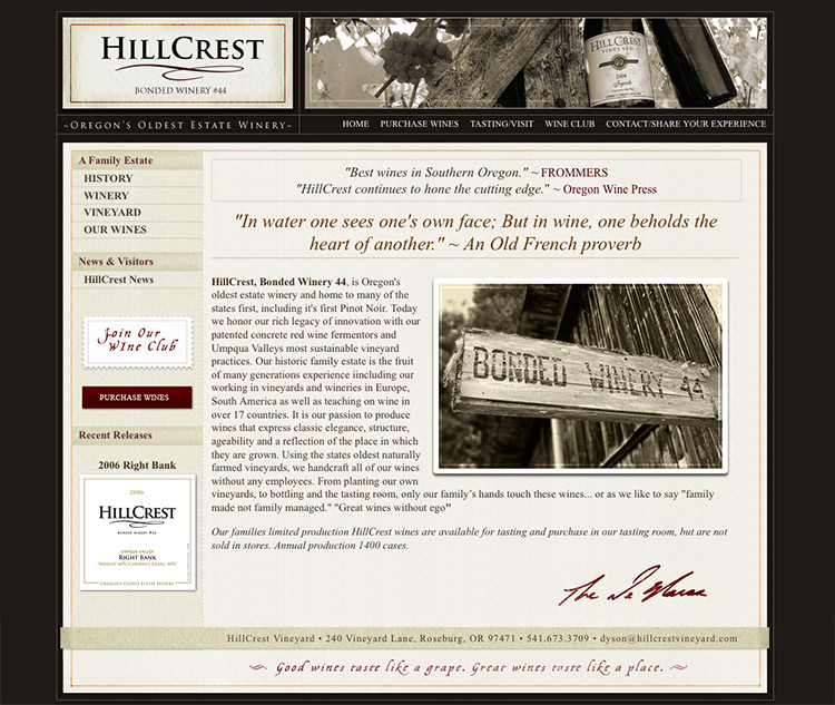 HillCrest Homepage