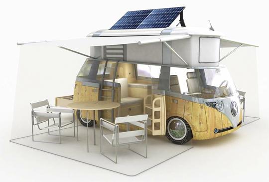 Solar Hybrid VW Westfalia Camper by Alexandre Verdier